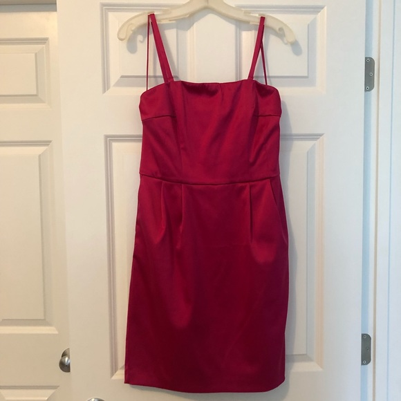 Express Dresses & Skirts - Price drop!!Silky strapless dress with pockets!!!